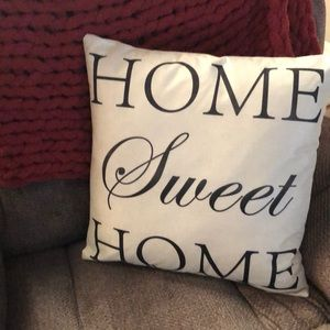 "Other - NEW ""Home Sweet Home"" pillow cover so cute!!!"
